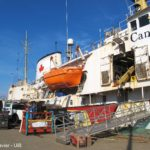 Scientists from the EU project SponGES ready to sample deep-sea sponges in the North Atlantic
