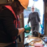 Lab work on the cruise in Norwegian fjords for the EU project SponGES