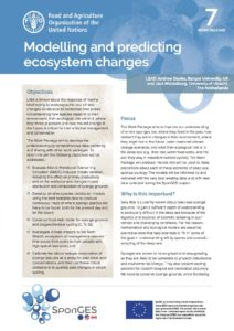 FAO, Factsheet, WP7, SponGES